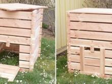 Composteur bois en kit avec trappe d'accès en façade
